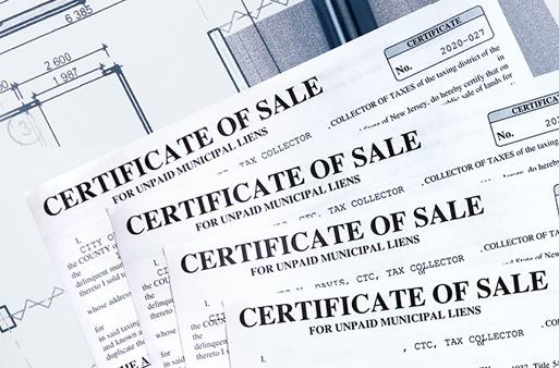 Certificate of Sale