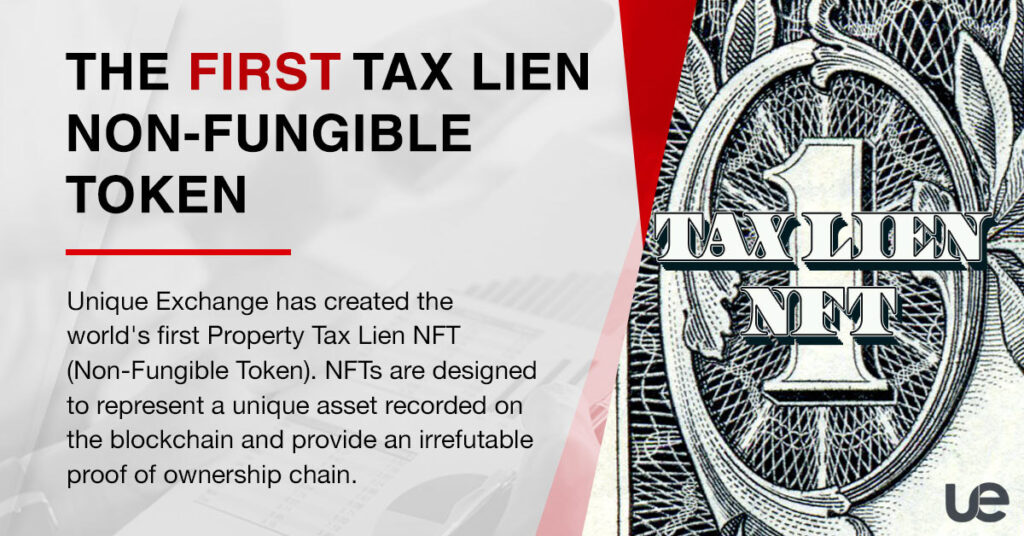 The First Tax Lien Non-Fungible Token